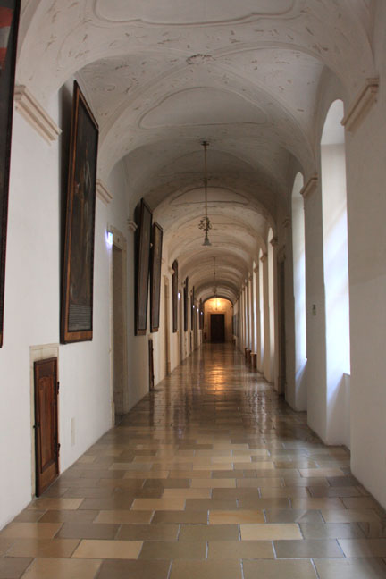 Melk Abbey interior corridor   photo by Morgan Thomas, 2014