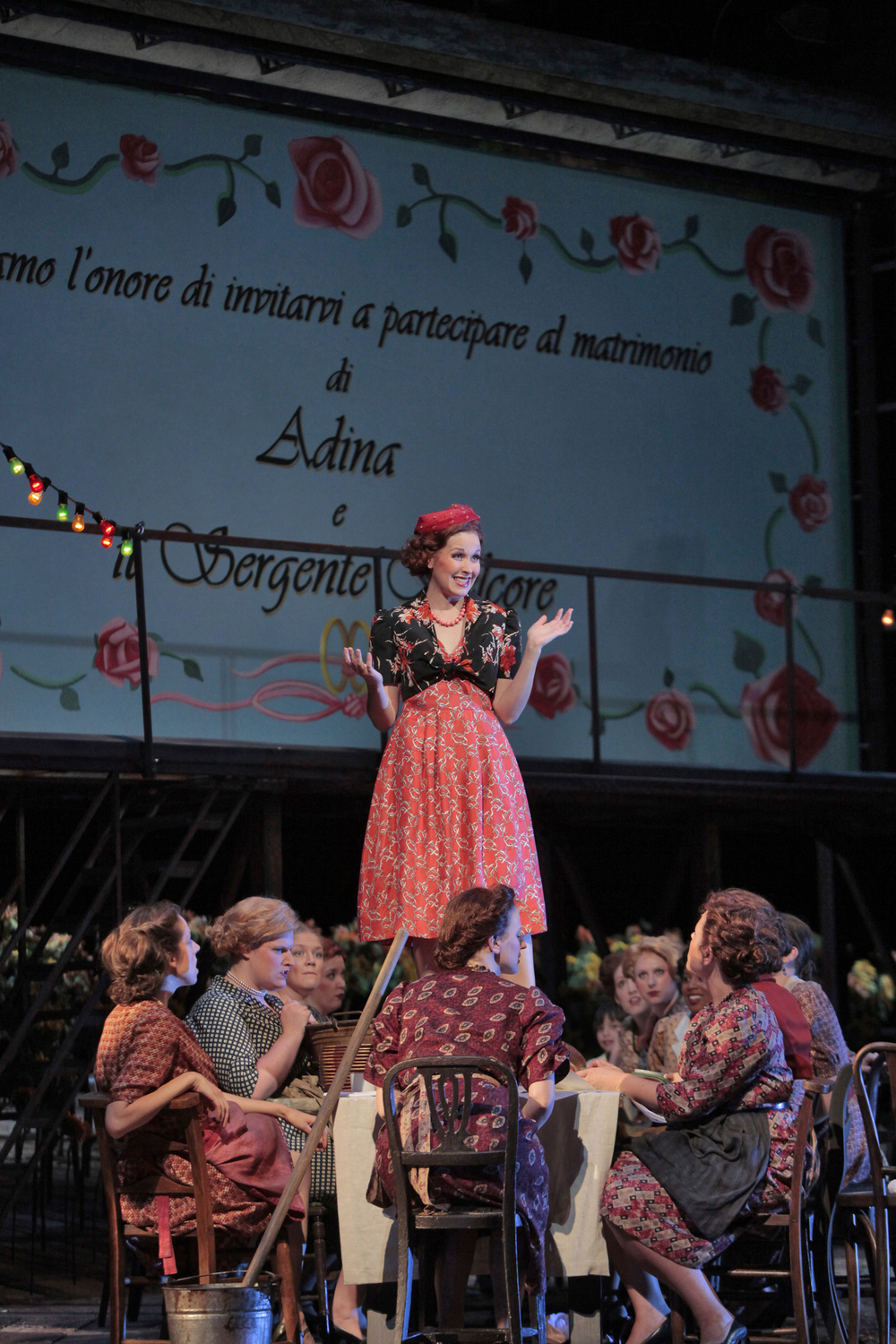 Act II as Gianetta in Donizetti's  L'elisir d'amore  at the Santa Fe Opera, 2009.