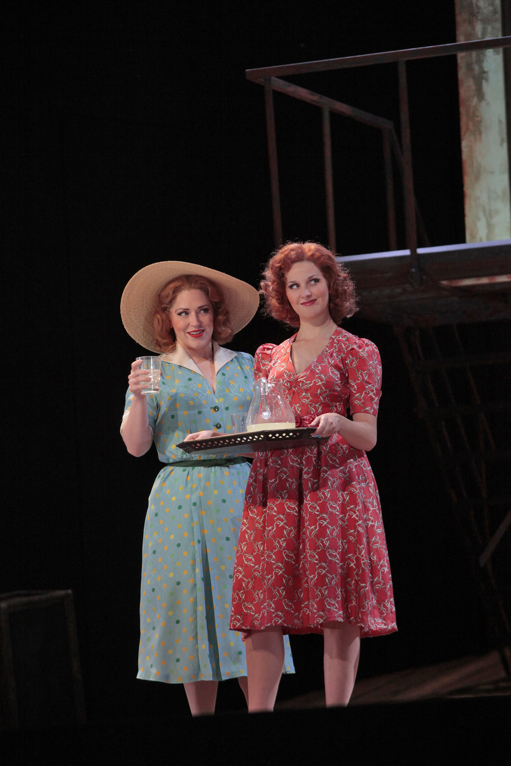 Gianetta  with Adina (Jennifer Black) in Donizetti's  L'elisir d'amore  at the Santa Fe Opera, 2009
