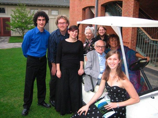 With Milton Babbitt, Tanglewood 2006