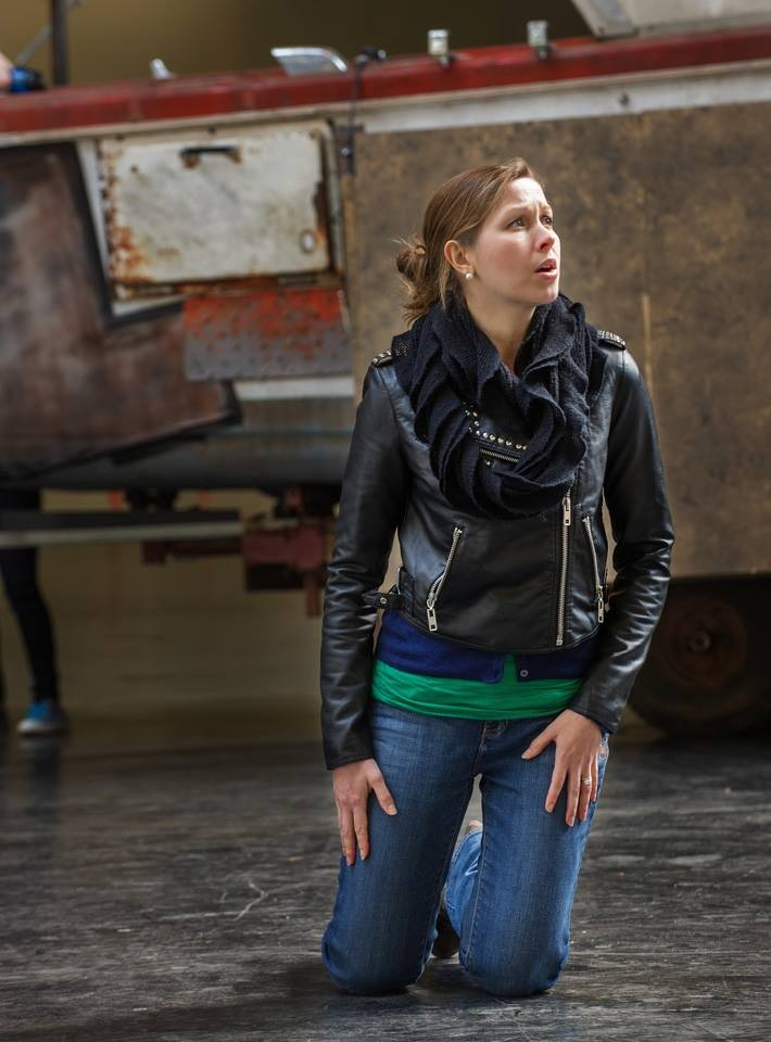 Rehearsal with Opera Parallèle, 2014. ©Steve DiBartolomeo, Westside Studio Image.