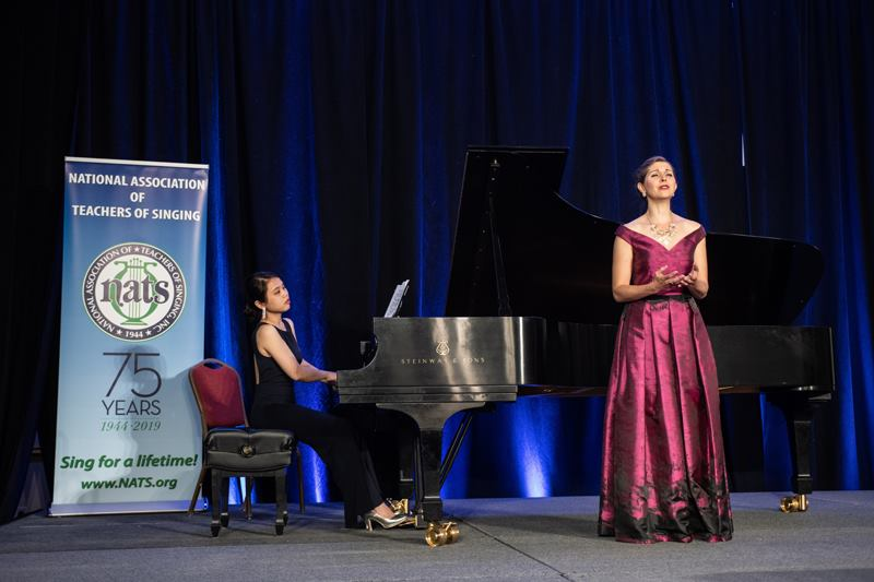 With pianist Hsin-Chiao Liao at the National Association of Teachers of Singing National Conference in Las Vegas Nevada, June 2018.