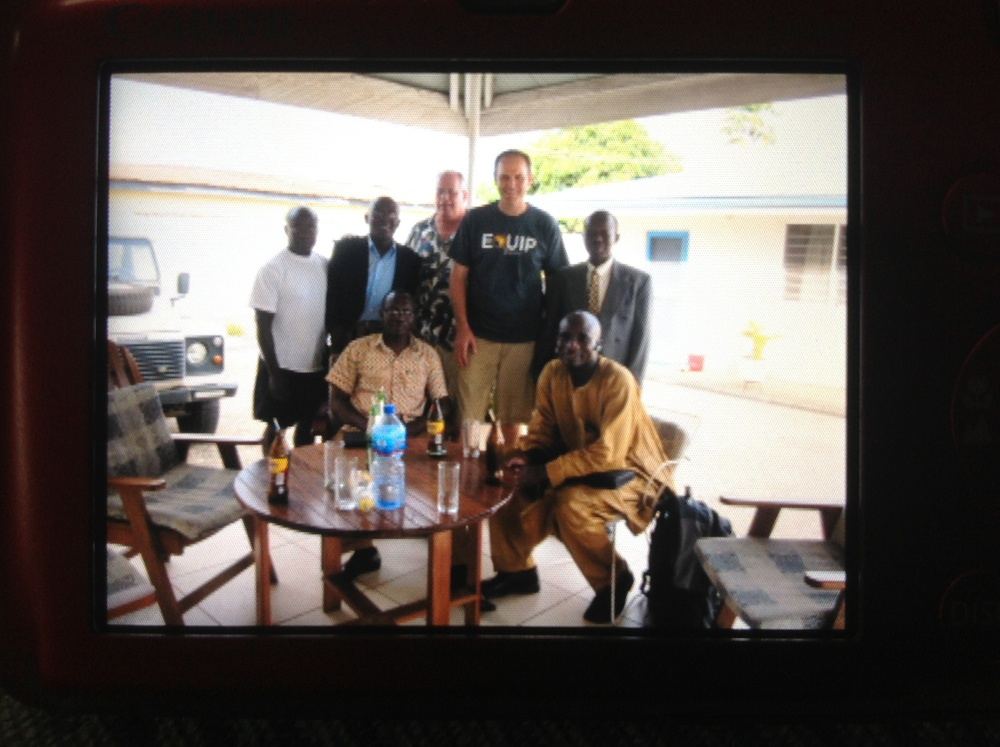 Adam Demark and George Lott together with various church leaders in Ghana.