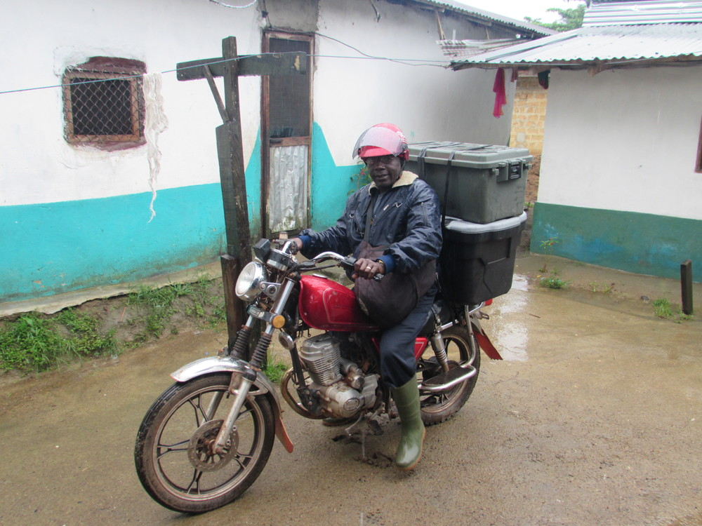 George on his way to the village to teach