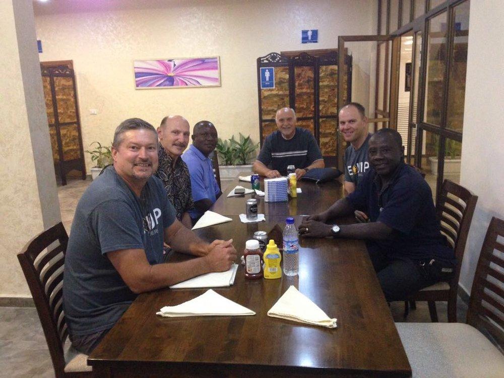 The group: Left to right  Pete Doerksen, Herb Baker, Philip Davis , Hank Demark, Adam Demark, and George Lott