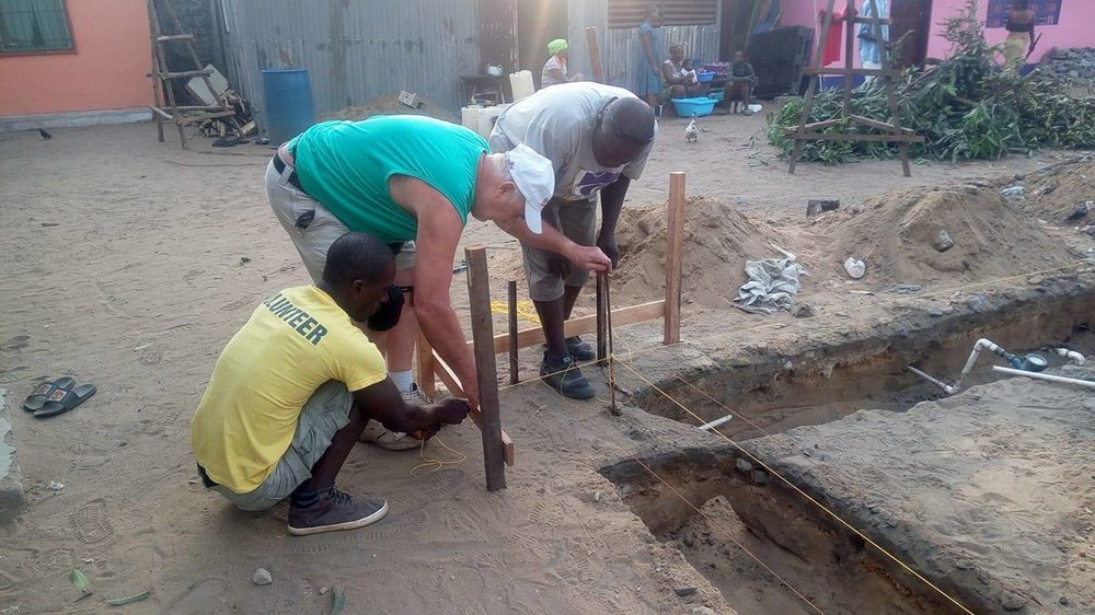 Precise measuring for the foundation and footers