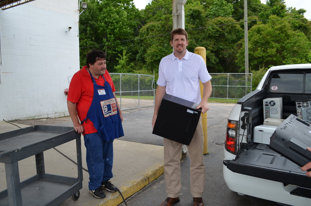 Goodwill Easter Seals  - Electronics Recycling, free for Momentum IT Clients, not only helps the environment, but creates local jobs and provides computers and electronic equipment to those in need in our community.