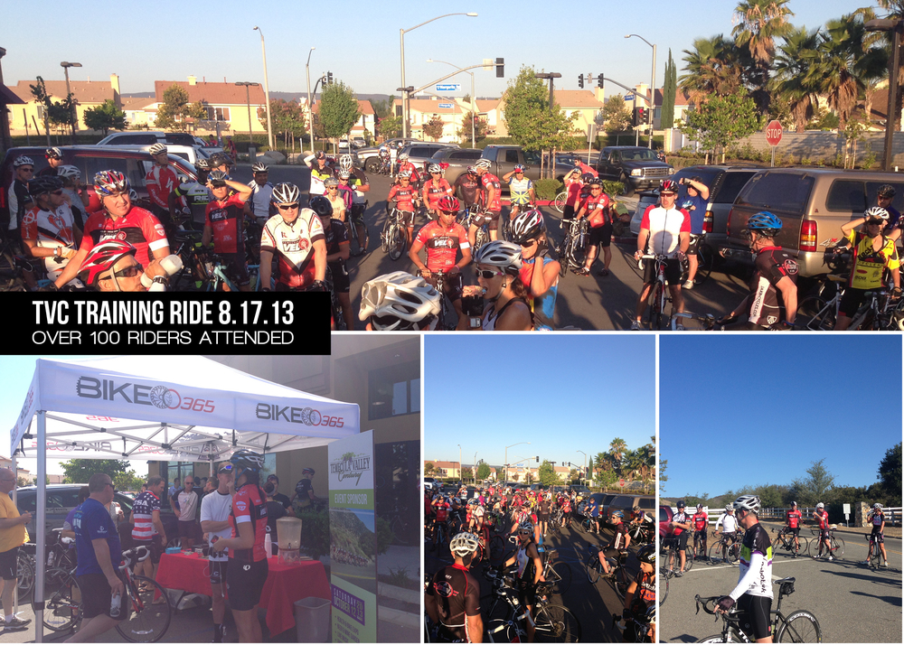 A new record was set for the TVC training ride when over 100 riders showed their support at the event on Saturday, August 17th.