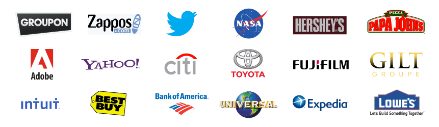 Some of ET's other clients. There are some small clients, however due to the powerful functionality of ET's services working together majority are medium to large-sized.