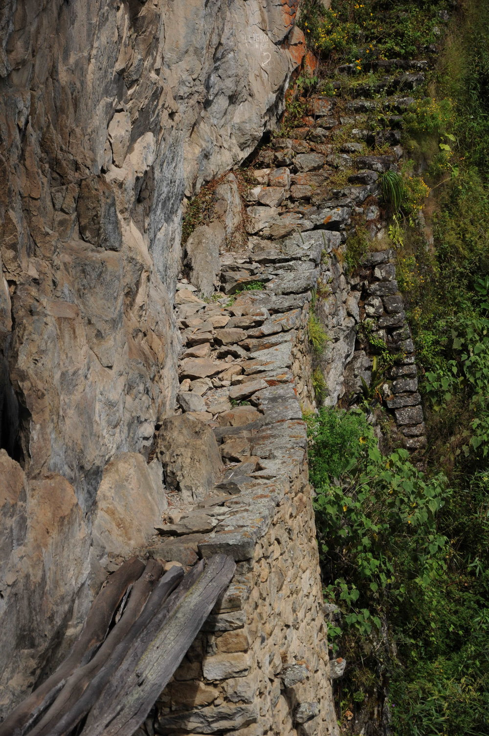 Inca built bridge
