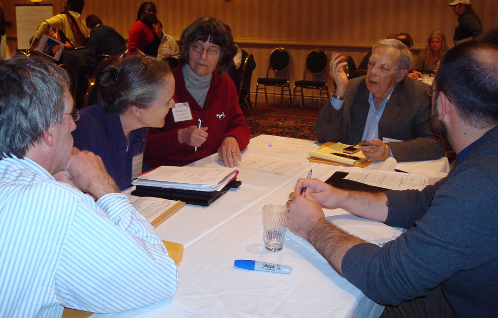 Networking at 2011 conference.JPG