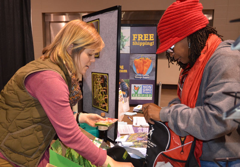 The trade show is a great place to gather information and shop.
