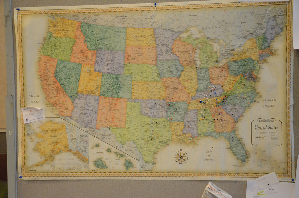 Pin map from 2016 Conference