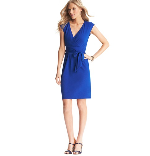Tie Waist Cap Sleeve Dress 																   Color: Brilliant Blue  ORG: $49.50  SALE: $25.00  FINAL PRICE: $20.00