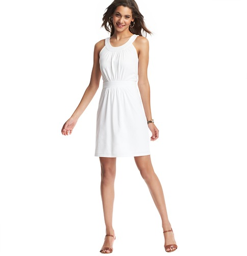 Pintucked Halter Neck Dress    Color:White  ORG: $49.50  SALE: $25.00  FINAL PRICE: $20.00