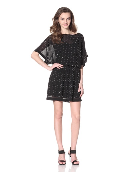 Alexia Admor Beaded Blouson Chiffon Dress Lightweight chiffon dress with allover beading detail, elastic waist, blouson bodice with dolman sleeves ORG $239 SALE $99