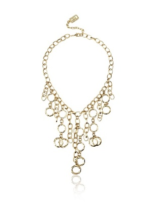 "Circles Chain Link Necklace  Smooth and hammered links shine on this dangling statement style, 2"" length extender  ONLY $44"