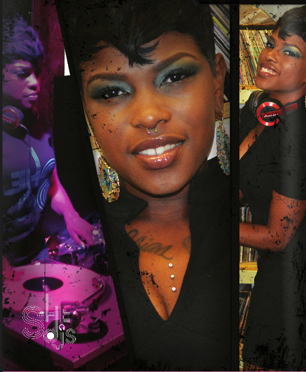 """DJ Nikki Nicole seen here wearing """"Night at the Museum"""" earrings.  Click here to view and purchase ."""