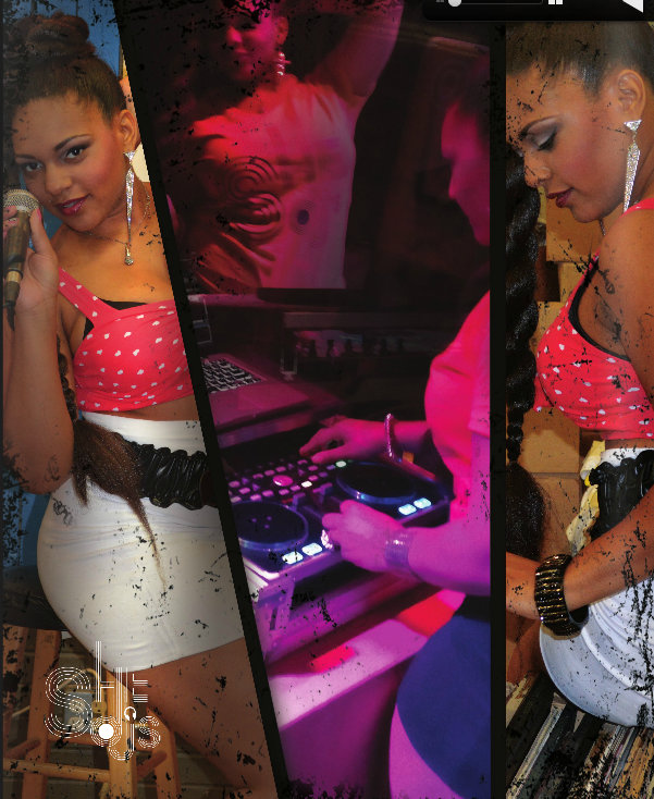 """DJ Dirty Rae seen here wearing """"Spear"""" earrings.  Click here to view and purchase."""