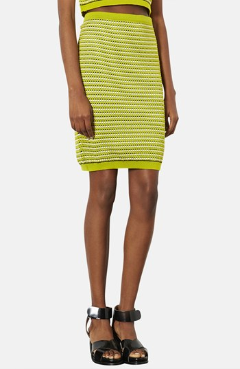 Topshop   'Geo' Knit Pencil Skirt   $72.00