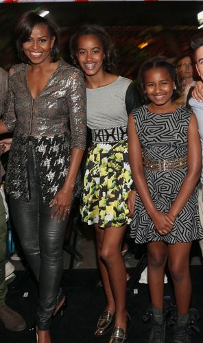 Michelle, Sasha, and Malia Obama