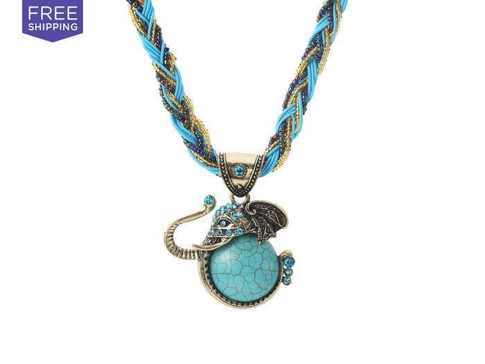 Wise Turquoise Elephant Trunk Necklace Wise Turquoise Elephant Trunk Necklace, $14.99 Deal Run Date Ends: 10/7/15