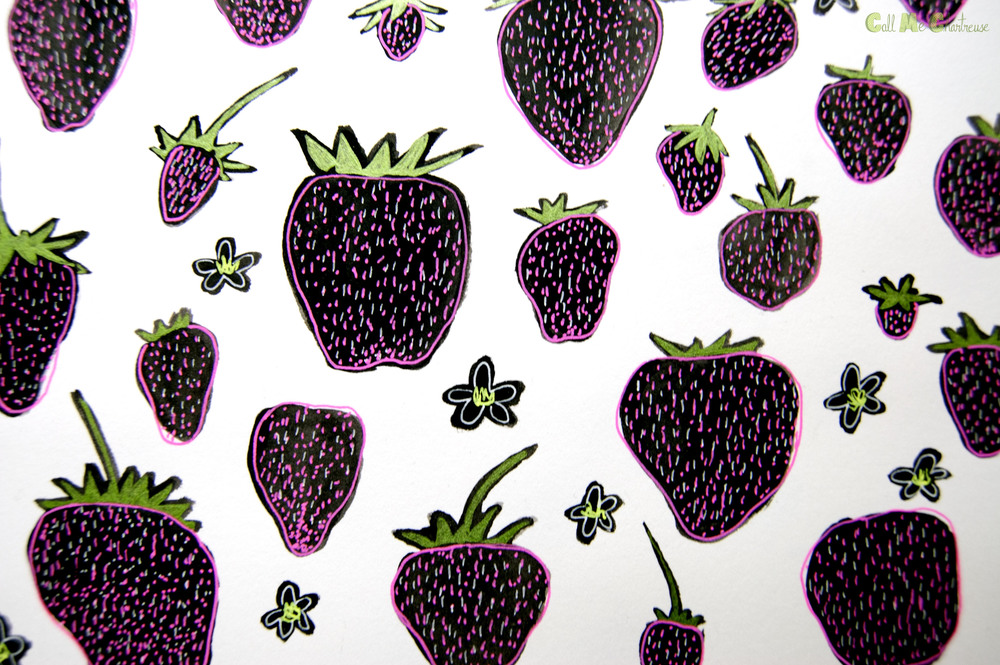CMC Fruit of the Day: Day9 Strawberry detail