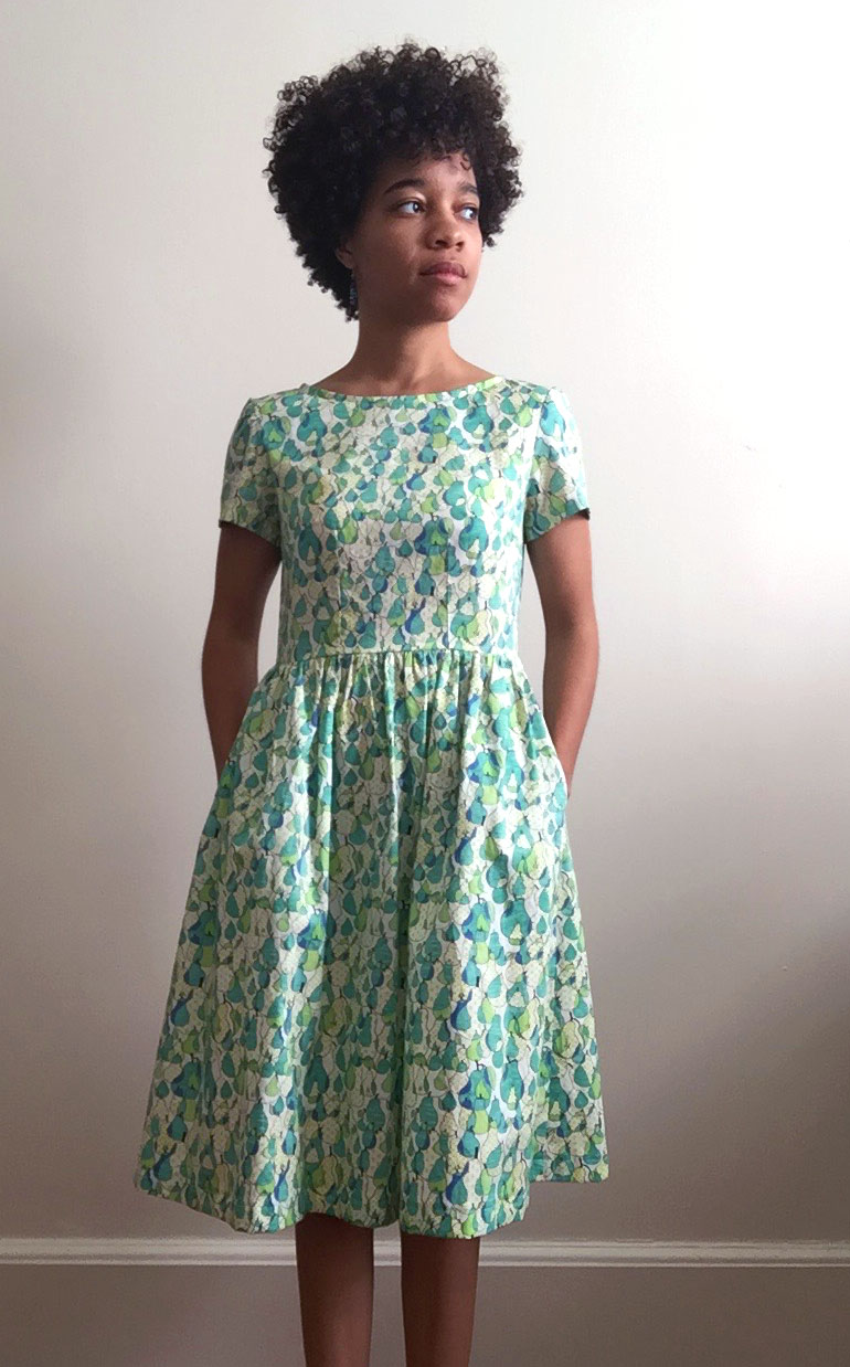 Garment:  Emery Dress  by Christine Haynes // Fabric:  Pear by Call Me Chartreuse