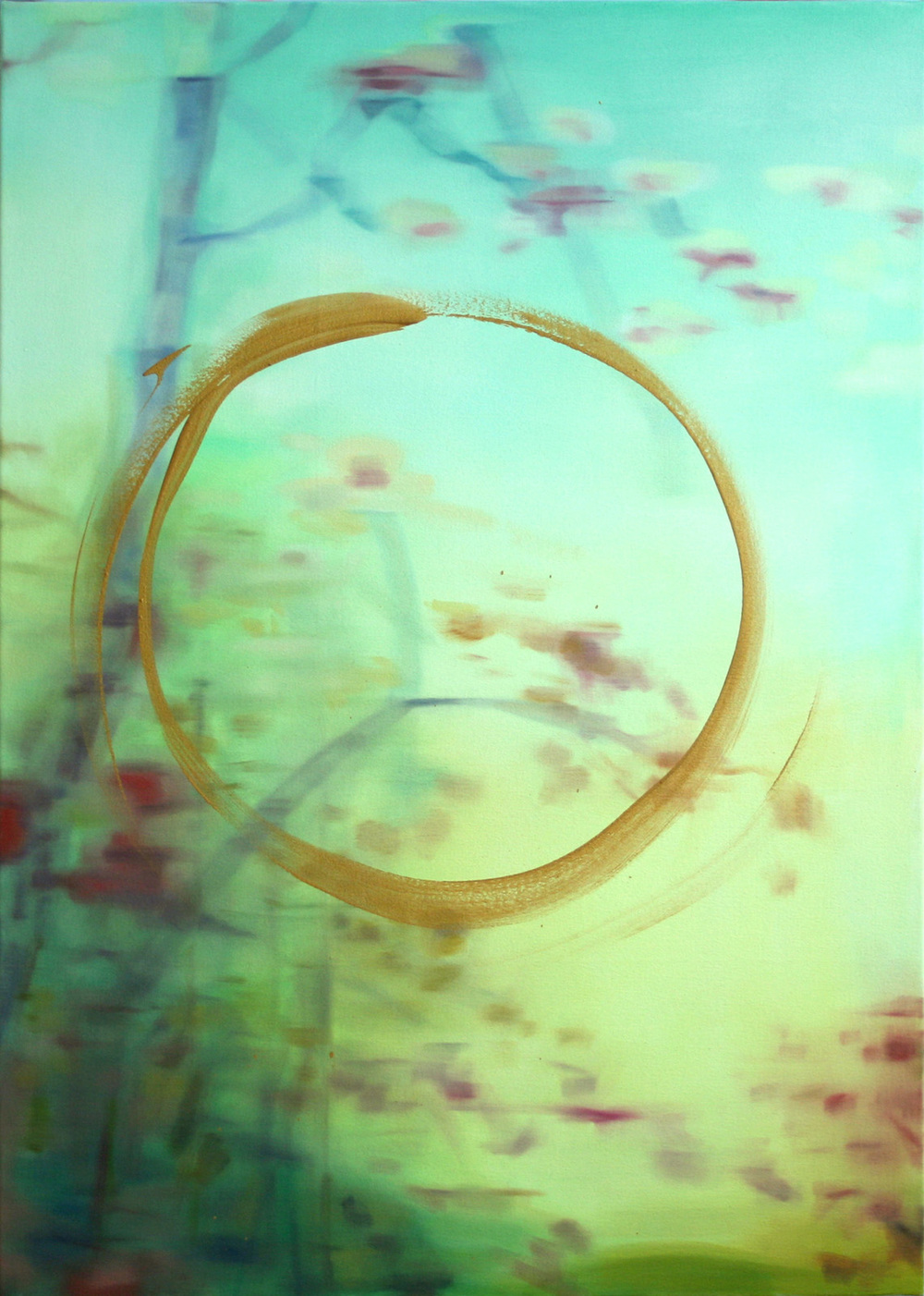 "Gold Loop  2010 oil on canvas 36"" x 24"" 
