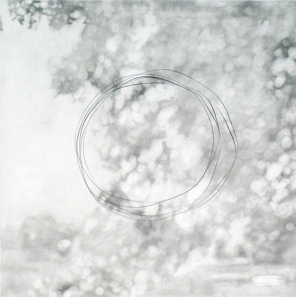 "Landscape with Gesture  2007 pencil on paper 19"" x 19"" 