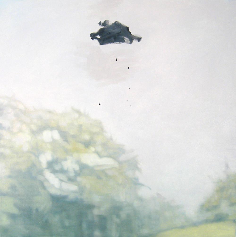 """Landscape with Raincloud 2008 oil on canvas 34"""" x 34"""""""