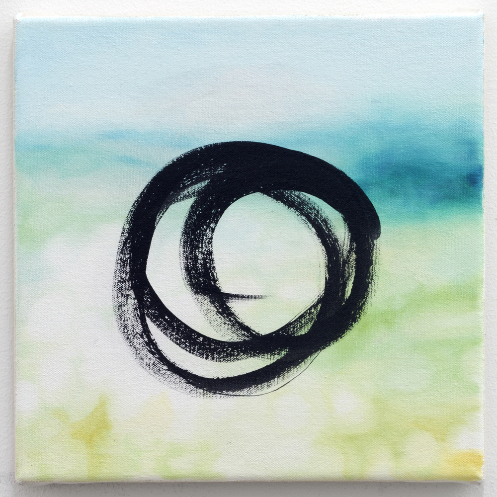 "Loop III  2013 oil on canvas 9"" x 9"" (22.86 x 22.86 cm) 