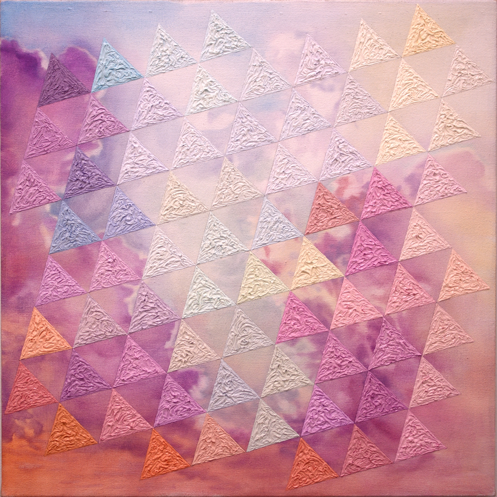 "Tintaglian Triangles  2015 oil on linen 20 x 20 ""   Private Collection"