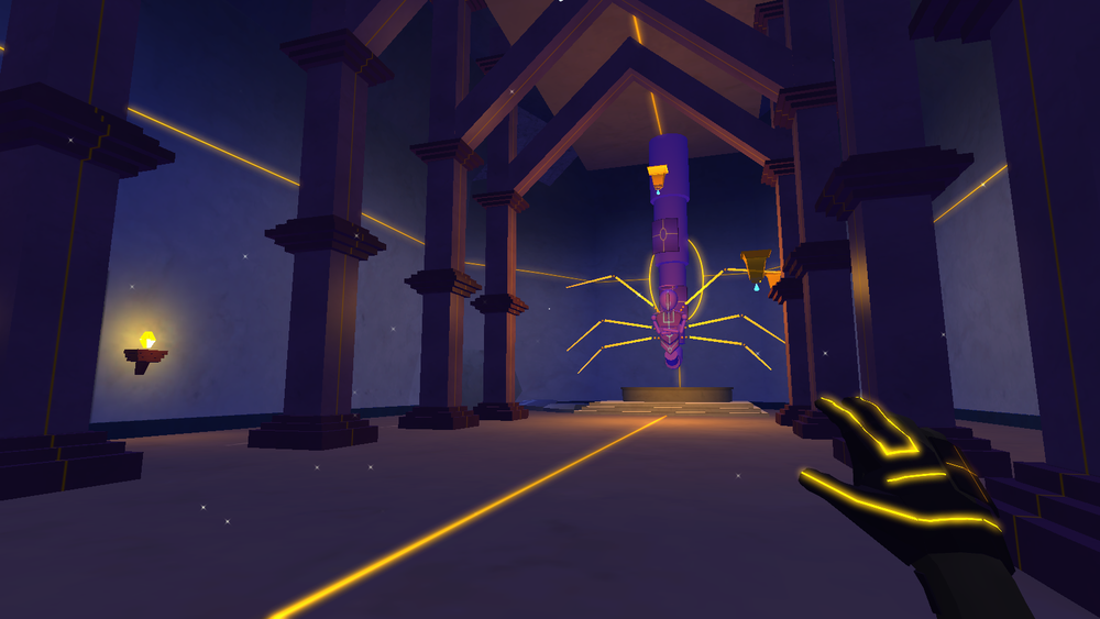 Current in-game screenshot of Temple using real-time lighting in Unity 5