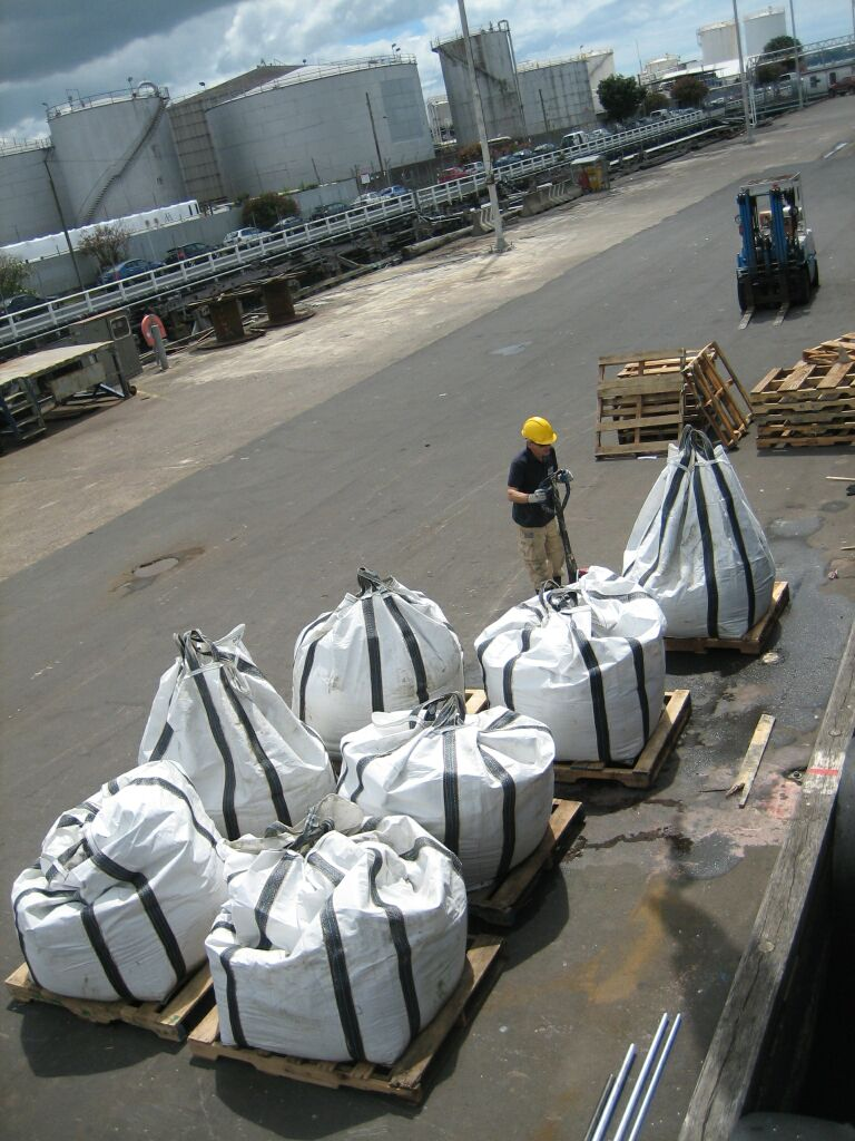 large_sample_bags_on_quayside_waiting_for_next_truck.jpg