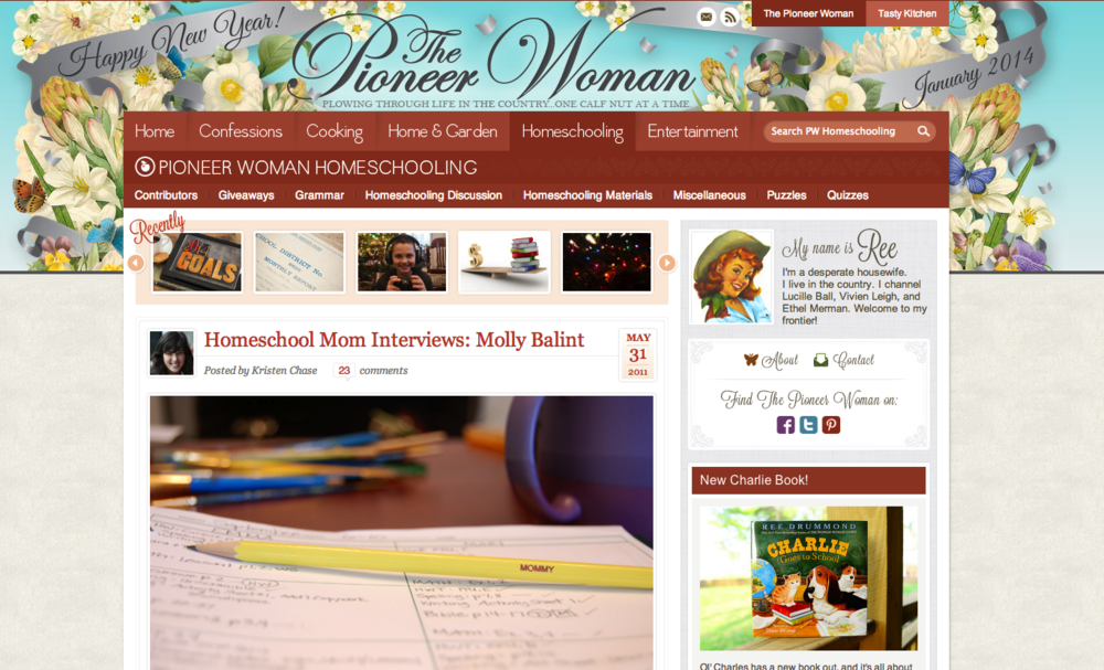 The Pioneer Woman: Homeschool Mom Interviews