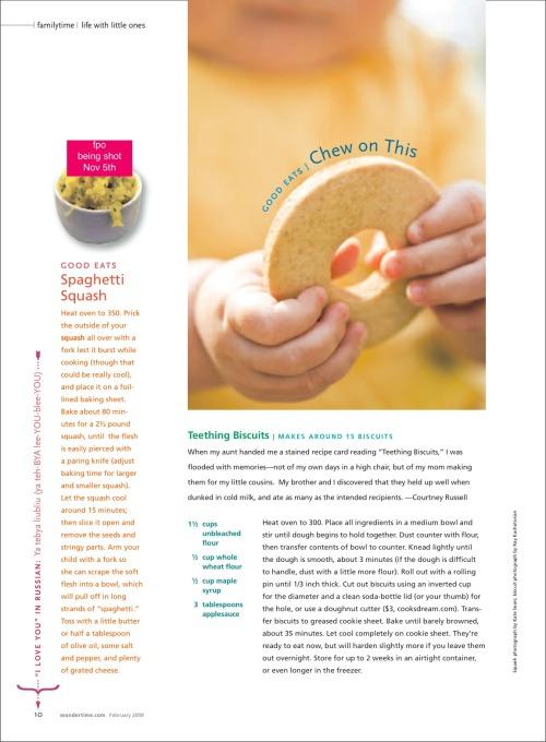 Wondertime Magazine: Recipe