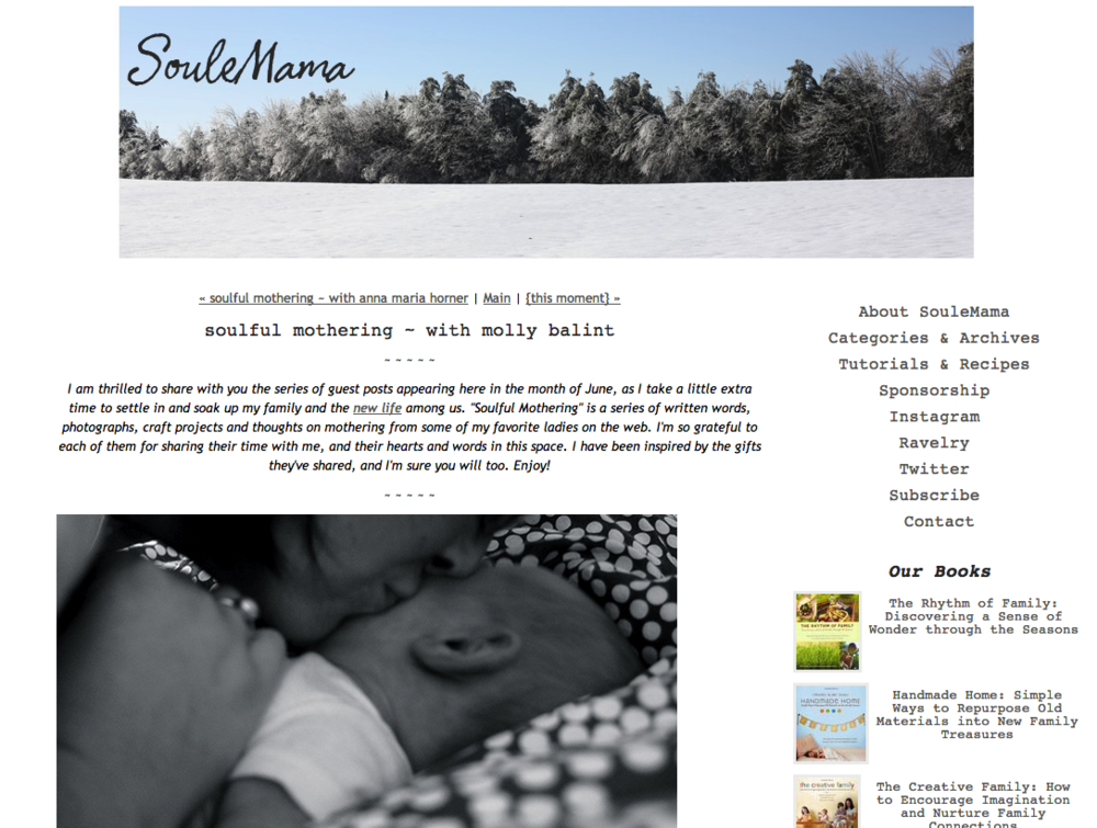 Soulemama Blog: Soulful Mothering