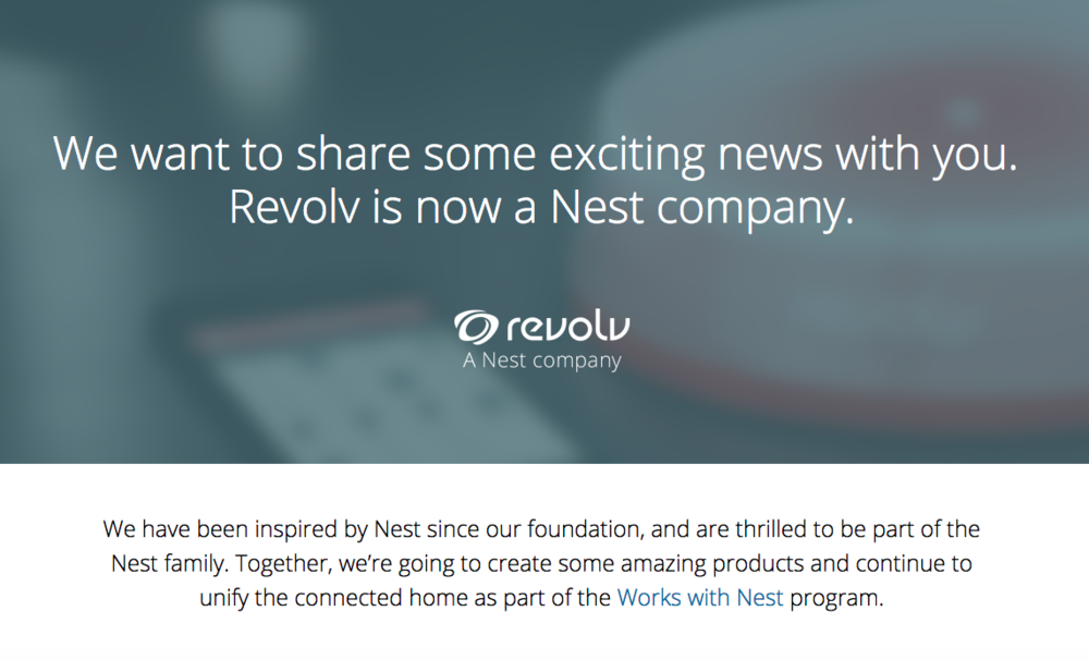 Revolv - Acquired by Nest