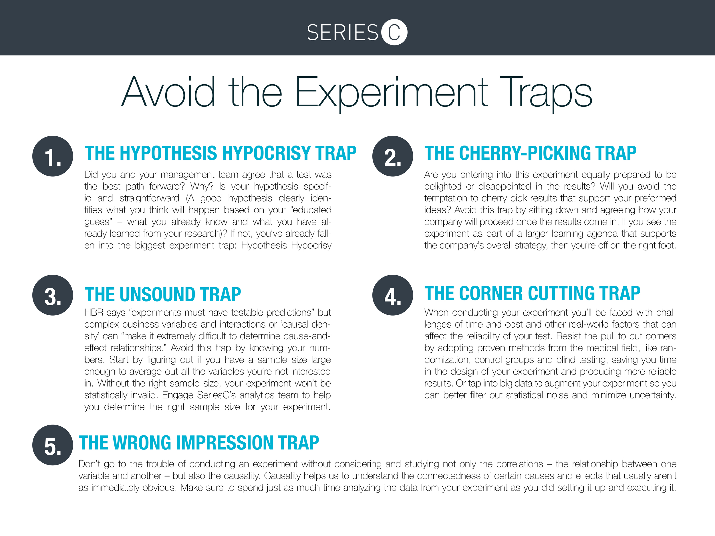 Avoid these experiment traps