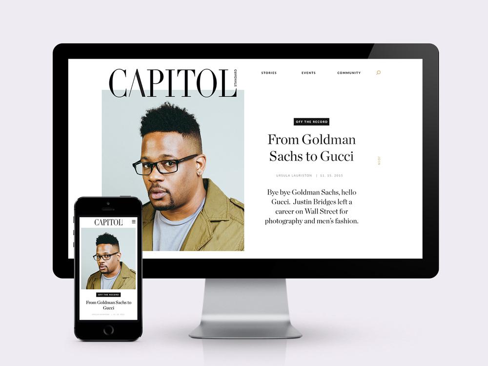 <h2>Capitol Standard</h2><h3>web design</h3>