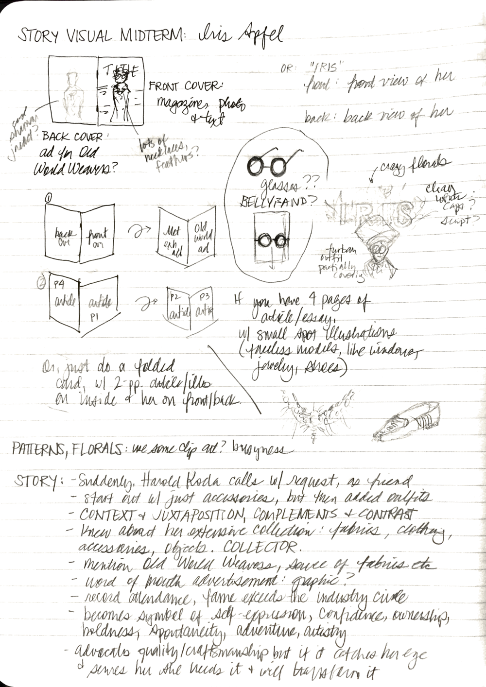 Notes while brainstorming