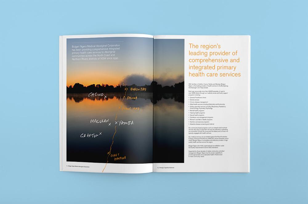 Brochure spread design