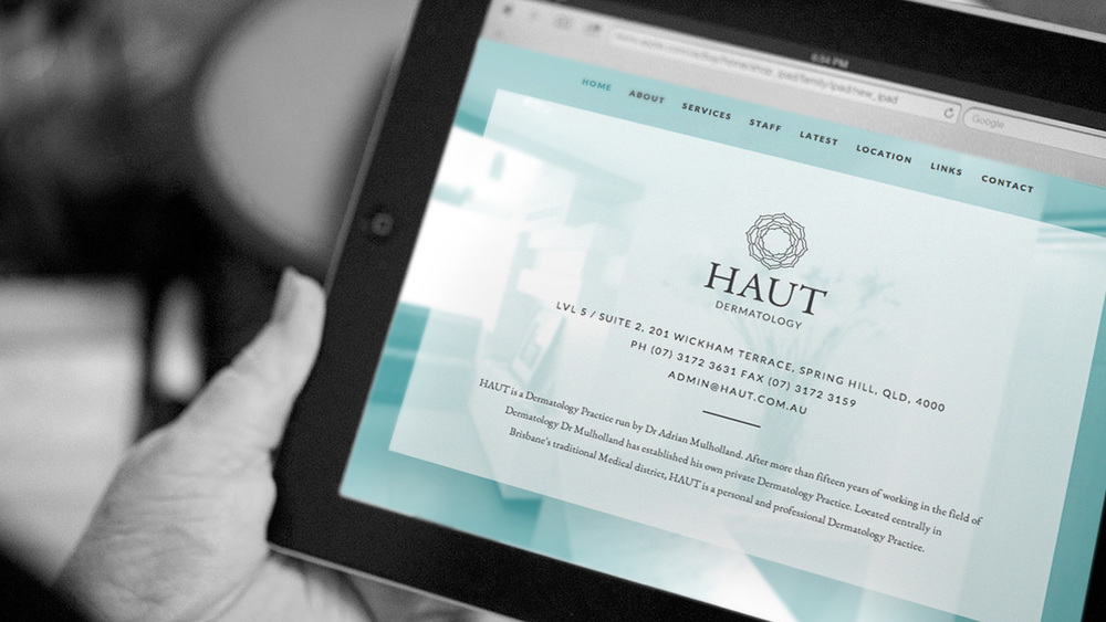 HAUT Dermatology website