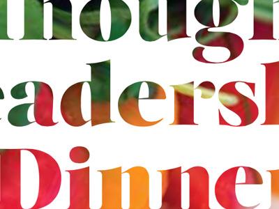 Dinner event branding