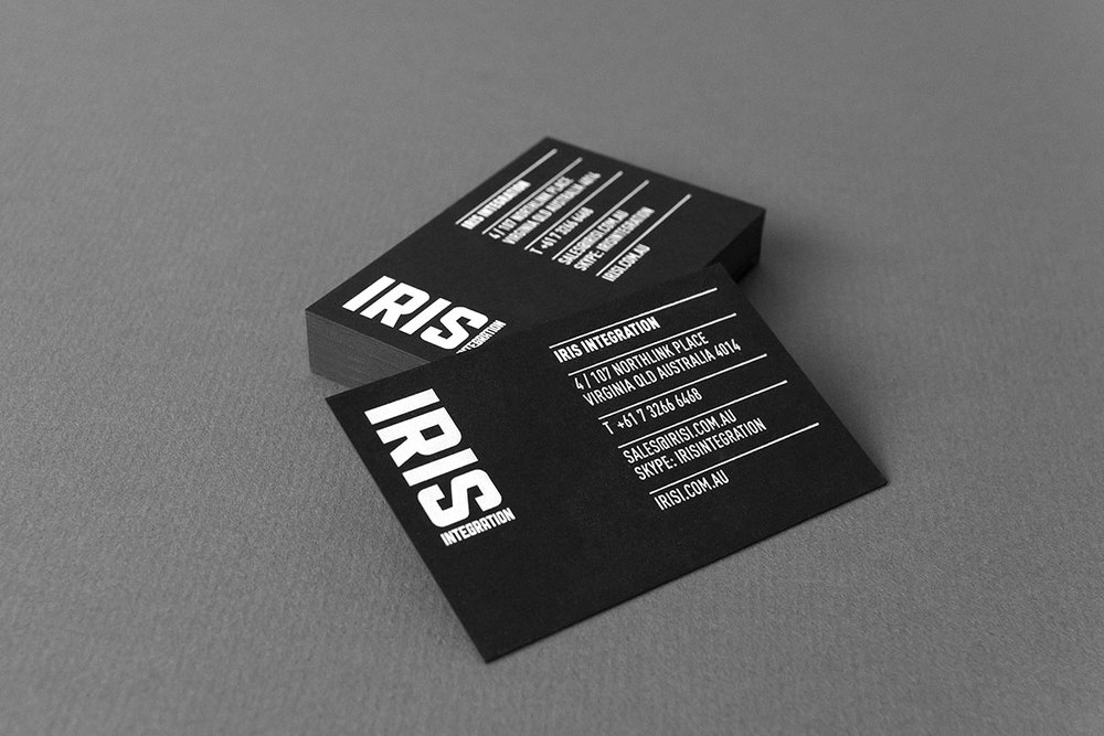IRIS business cards and stationery