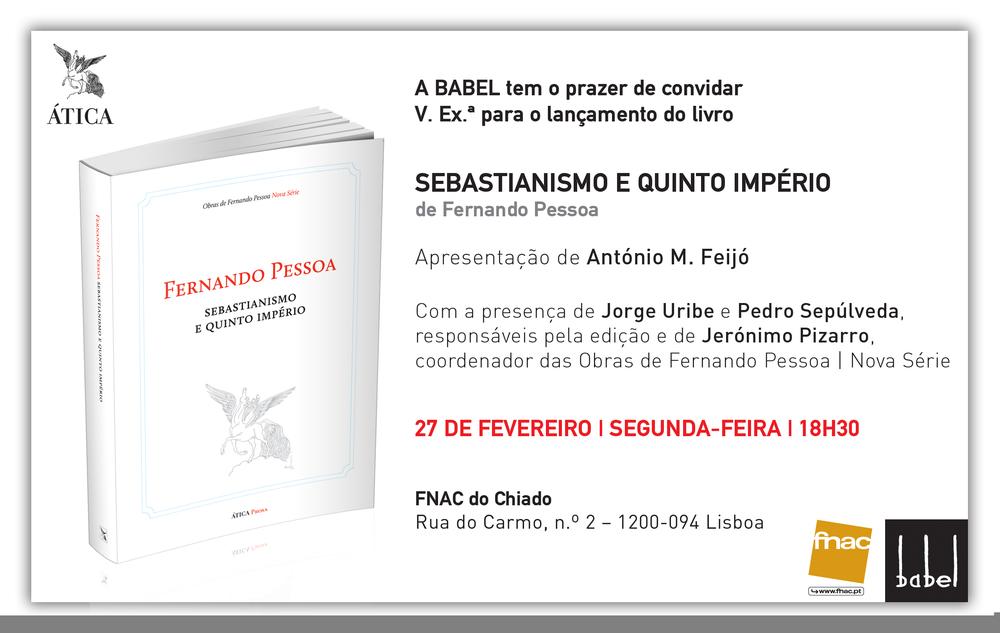 """Lançamento de """"Sebastianismo e Quinto Império"""""""