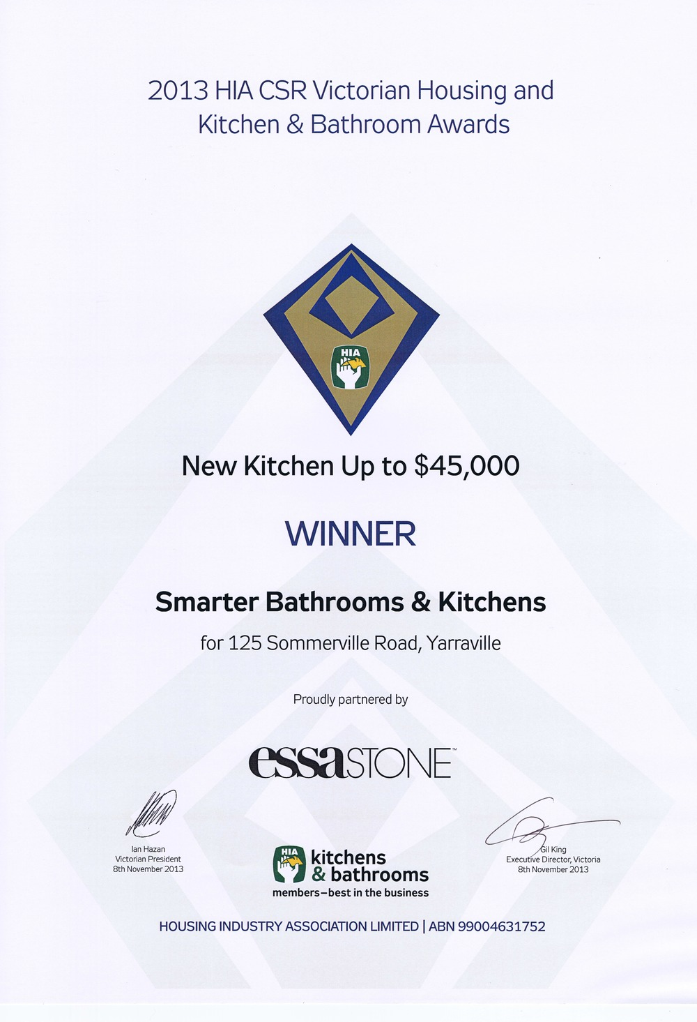 Matt Grieve, Kitchen U0026 Bathroom Designer Was Recognised In 2013 At The HIA  Awards  Part 41