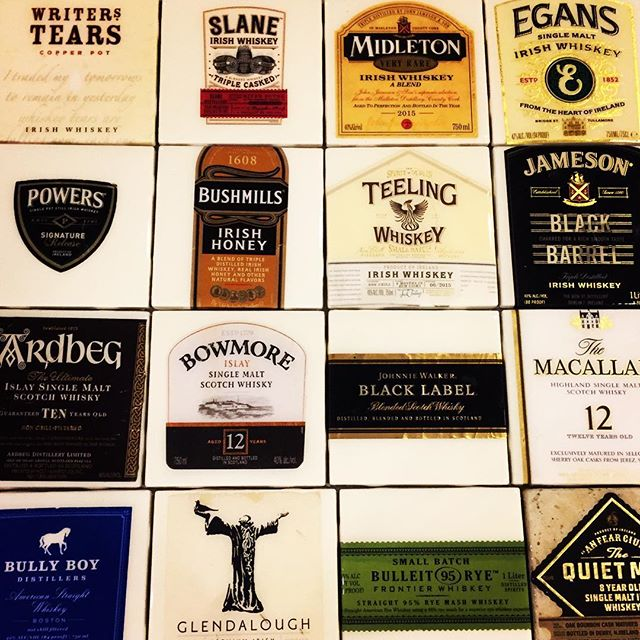 Whiskey label coasters ready for the Boston Christmas Festival ~ only 22 days to go!!!
