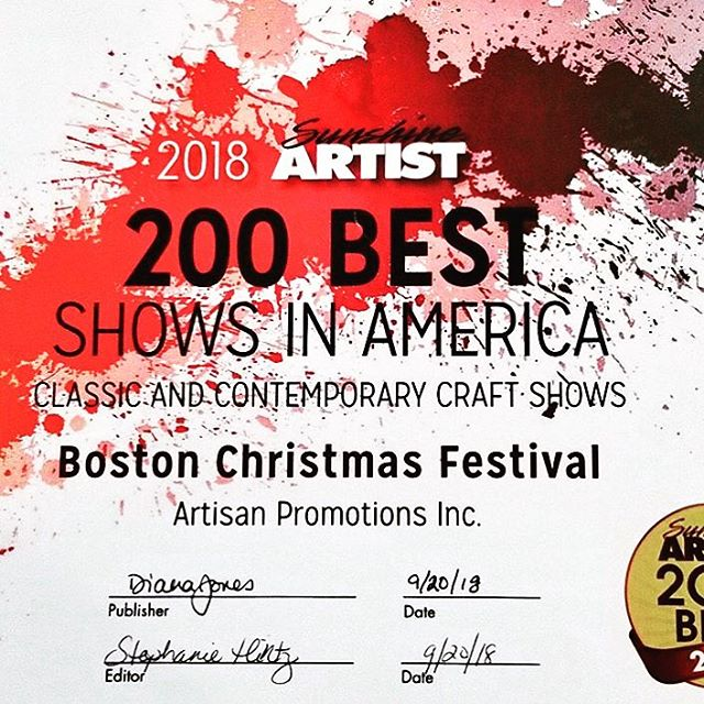 Come see us and SHOP at the Boston Christmas Festival one week from today!  Boston Seaport World Trade Center-Nov. 2-4🎁